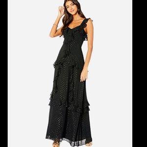 NWT Lilly Pulitzer Black Riland Maxi Dress Size 0